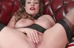 Natural big tits brunette wanks about nylon