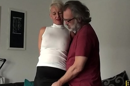 Busty british gilf assfucked by maledom