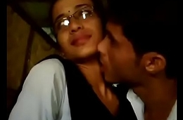 College boy &amp_ girl lipkiss in dhaba