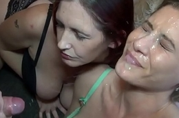 MFF threesome ends in humiliating solo facial