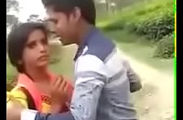 Indian Cute Girl Full Forcing Kiss Alfresco    Indian Lovers Woodland