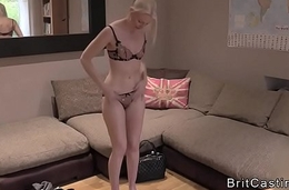 Lovely blonde hard anal pounded in casting