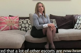 UK inexpert cocksucks and rides casting agent