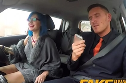 Fake Driving School Sexy emo gets will not hear of ass pounded and throat fucked