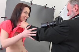 Old Goes Young - Entertaining brunette Foxy Fox