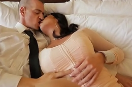 Escort service delivers super hot sheboy to guys hotel room