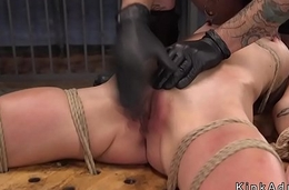 Plighted hottie gagged and guestimated fucked