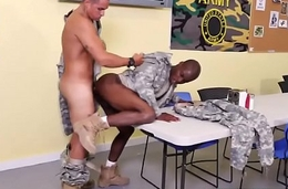 Soldier banged with big fat dick