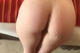Shooting a Monster Cum Load All Over her Perfect Ass