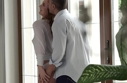 European redhead anally fucked unconnected with her bf