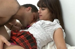 Pretty young amateur french school girl banged about cum in brashness