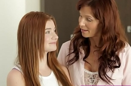 Redhead Mom And Teen Daughter Get Naughty With Load of shit