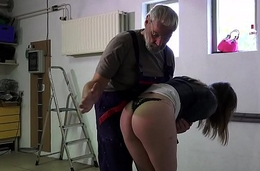 Such an innocent petite juvenile wet crack for an old horny hairy grandpa