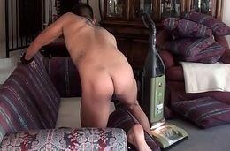 Gardener boy'_s predicament -stripped naked