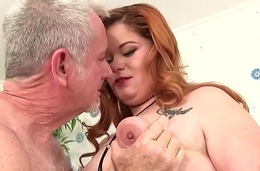 Fat Redhead Lilly Lust Sucks a Thick Weasel words added to Then Gets Fucked