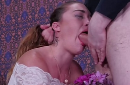 Big pain in the neck babe, Kat Monroe, gets a brutal face fucking, rimjob punishment