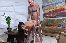 BLUE Wet blanket MEN - Grandpa Popping Pills coupled with Fucking Tight Latina Teen Pussy!
