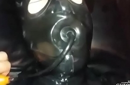 Dexterous Guto Lemos'_ sub with latex inflated gag
